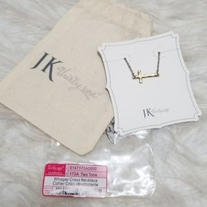 JK by Thirty-One two-tone Whisper Cross Necklace